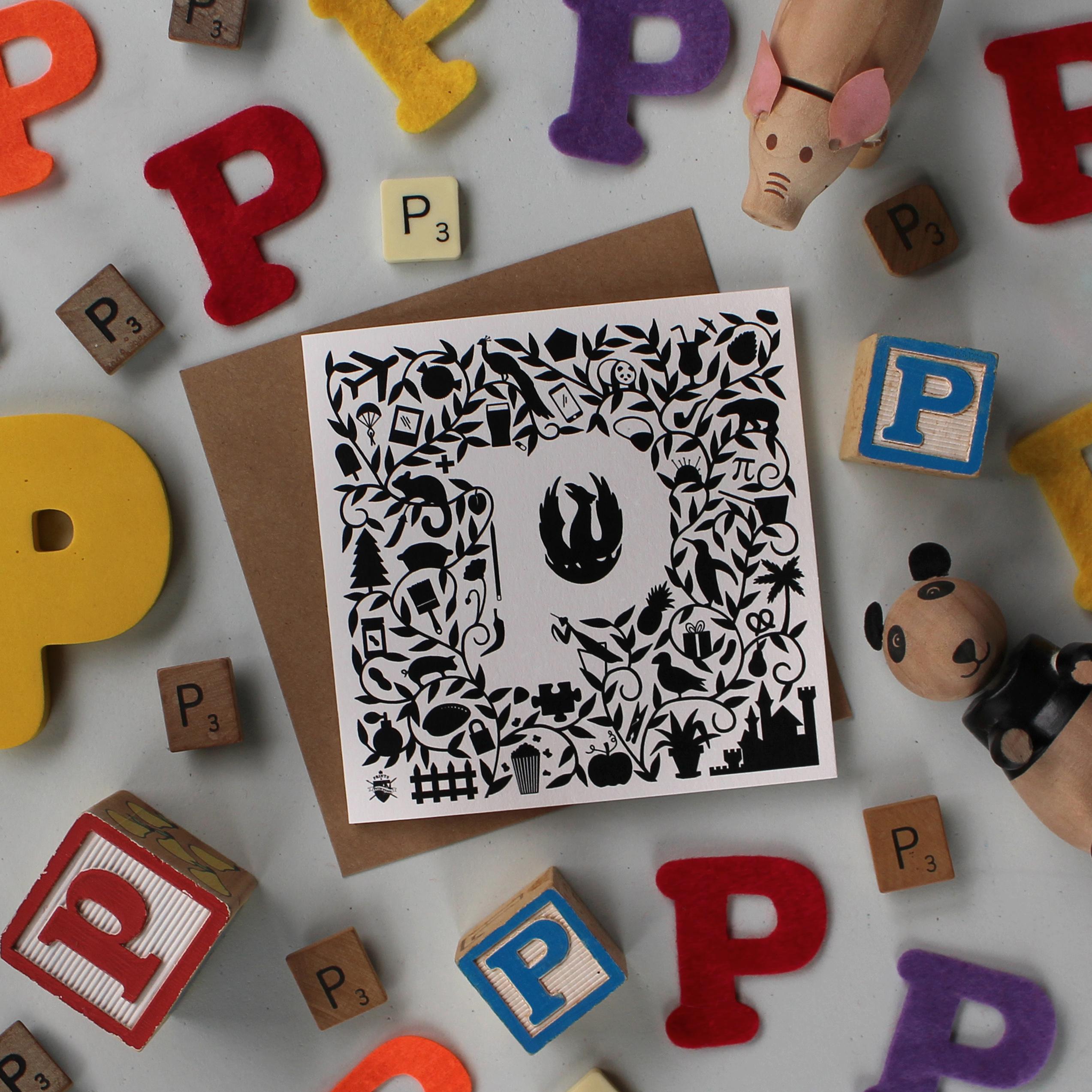 P Card - Prints & Princesses